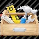 configuration, construction, hammer, repair, setting, tool, tools icon