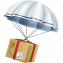 balloon, courier, delivery, logistics, package, parcel, shipment icon
