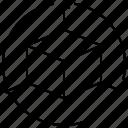 3d parcel image, box, box illustration, convex polyhedron box, cuboid, hypercube, six quadrilateral faced box