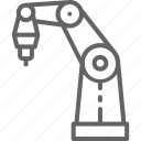 line, manufacture, printer, printing, production, robot, technology icon