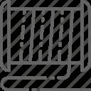 filament, line, material, printer, printing, spool, web icon