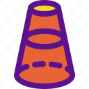 cone, dimensional, geometry, interaction icon