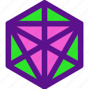 dimensional, geometry, hexagon, interaction icon