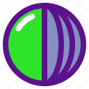 cut, dimensional, geometry, interaction, sphere icon
