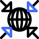 interaction, smaller, geometry, dimensional icon