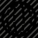 dimensional, geometry, globe, interaction icon
