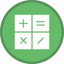 accounting, calculate, calculation, calculator, math, mathematics icon