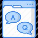 faq, question, support, help, service, web icon