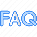 faq, question, support, help, service icon