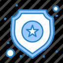 sign, police, sheild, star icon