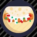 american, food, fish tacos, tacos, bistro icon