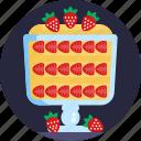 christmas, food, strawberries, holiday, fruit icon