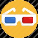cinema, movie, glasses, 3d