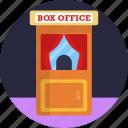 cinema, ticket, office, box