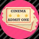 cinema, movie, ticket
