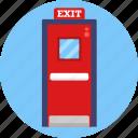 cinema, exit, door, theater