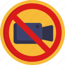 cinema, no videos, warning, sign
