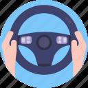driving, helm, steering, wheel, steering wheel
