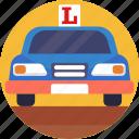 driving, school, learner, car, vehicle