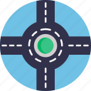 driving, school, roundabout, city, intersection