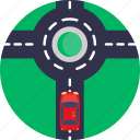 driving, roundabout, highway, car, vehicle