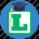 driving, school, graduate, learner, sign, symbol
