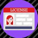 driving, license, car, card, id