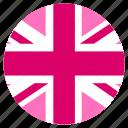 circle, flag, lgbt, pink jack, pride