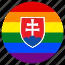 circle, flag, gay, lgbt, pride, rainbow, slovakia