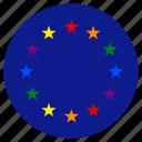 circle, european, flag, gay, homosexual, lgbt, rights