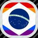 flag, rights, lgbt, brazil, lgbtq, brazilian, pride icon