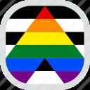 ally, flag, lgbt, lgbtq, pride, straight
