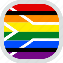 flag, lgbt, lgbtq, pride, rights, south africa icon