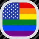 flag, lgbt, lgbtq, pride, united states