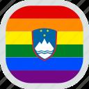 flag, gay, lgbt, lgbtq, pride, slovenian
