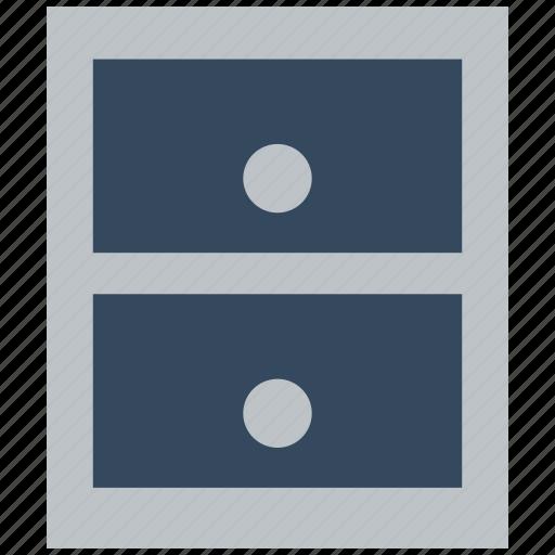 cabinet, database, drawer, drawers, storage icon
