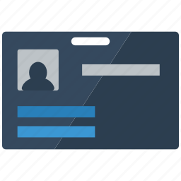 badge, card, employee, id, identification, user icon