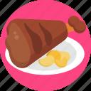 german, food, pork, steak, meal