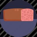 german, food, meatloaf, meat, loaf, breakfast