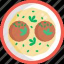 german, food, liver, dumpling, meal, restaurant