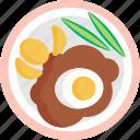 german, food, breakfast, eggs, meal