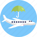 insurance, umbrella, shield, protection, flight