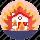 insurance, fire, home, house