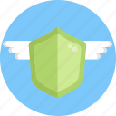 insurance, shield, protection, wings