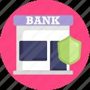 bank, insurance, shield, protection
