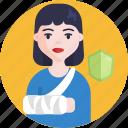 health, medical, insurance, shield, woman