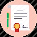 insurance, forms, award, pen