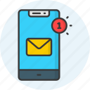 mobile, phone, notification, smartphone, alarm, bell, alert