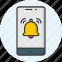 notification, bell, alert, alarm, ring, warning