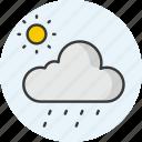 weather, cloud, sun, rain, forecast